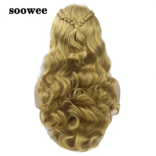 Cosplay Wig Braided Synthetic-Hair Curly Hairpiece Long Women's Fiber Soowee High-Temperature