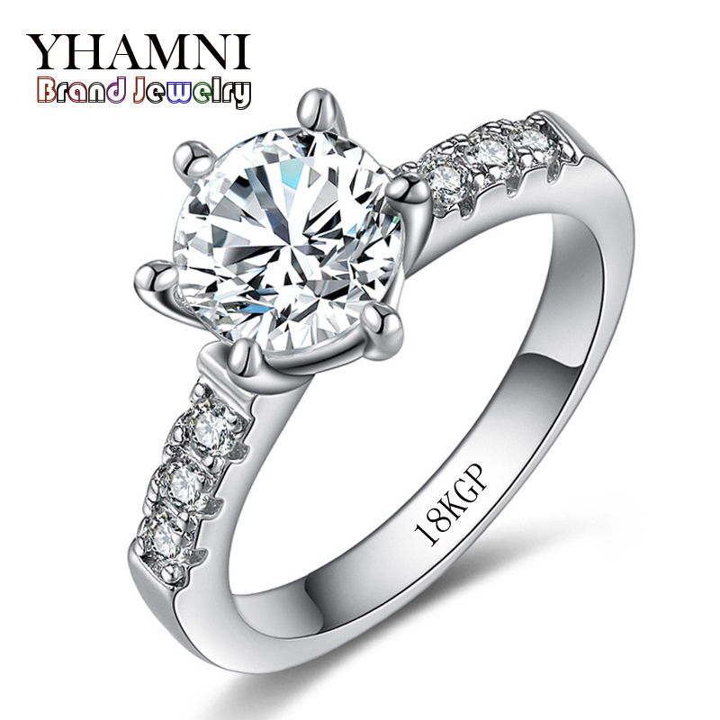 Have 18krgp stamp solid white gold rings for women set 2 for Diamond stamp on jewelry