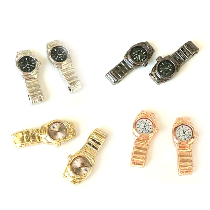 1PCS 1:12 Doll House Miniature Watch Multiple Colour For 1/12 Dollhouse Decor Accessories Home Ornament