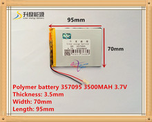 3.7V 3500mah (polymer lithium ion battery) Li-ion battery for tablet pc 7 inch 8 inch 9.7 inch 10.1 inch 357095
