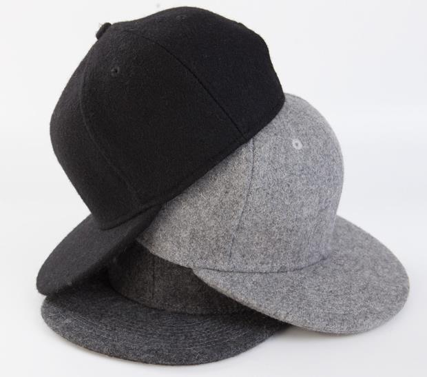 Wholesale Mens Plain Adjustable Baseball Cap Autumn Winter Blank Flat  Brimmed Snapbakcs Hat Men Wool Blended Ball Hats Buy Bulk 735c3ea1452