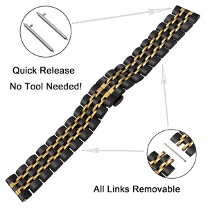 Image 3 - 22mm Premium Stainless Steel Watch Band for Samsung Gear S3 Classic Frontier Gear 2 Neo Live Quick Release Strap Wrist Bracelet