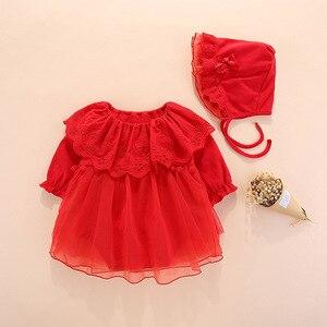 Image 4 - 2019 Одежда для новорожденных девочек, платья, весеннее платье для крещения на возраст 0 3 месяца, детские платья, комплекты платьев для крещения на возраст 6