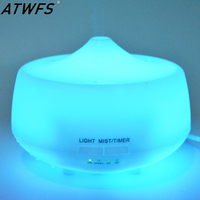 ATWFS Aroma Air Humidifier Essential Oil Diffuser LED Aromatherapy Diffuser Ultrasonic Humidifier Mist Maker Fogger Aroma