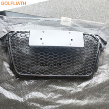 GOLFLIATH For A4 RS4 style Grill ABS Front Honey Mesh Grille front bumper grill fit for Audi A4 S4 RS4 B8 2012-2015