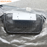 For A4 RS4 Style Grill ABS Front Honey Mesh Grille Front Bumper Grill Fit For Audi