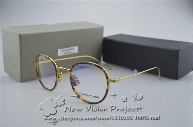 2017 Nueva York Marca Redondo Estilo gafas de montura de Thom Browne TB905 Hombres y Mujeres Gafas Gafas de grau