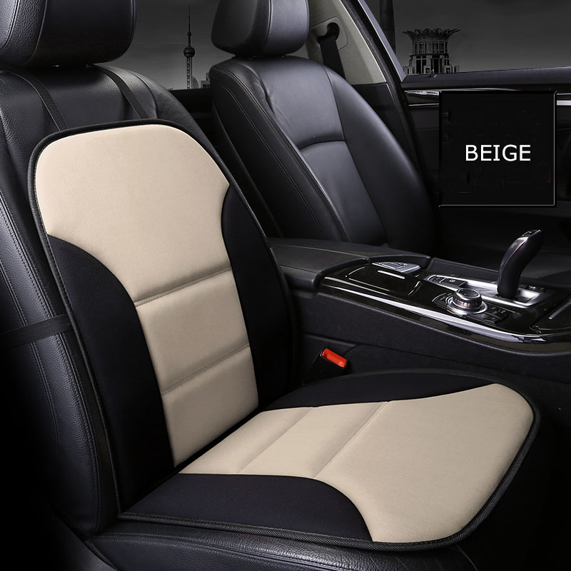 KKYSYELVA 1PCS Front Seat Mat Universal Car Cushion Covers for driver seat cushion Interior Accessories