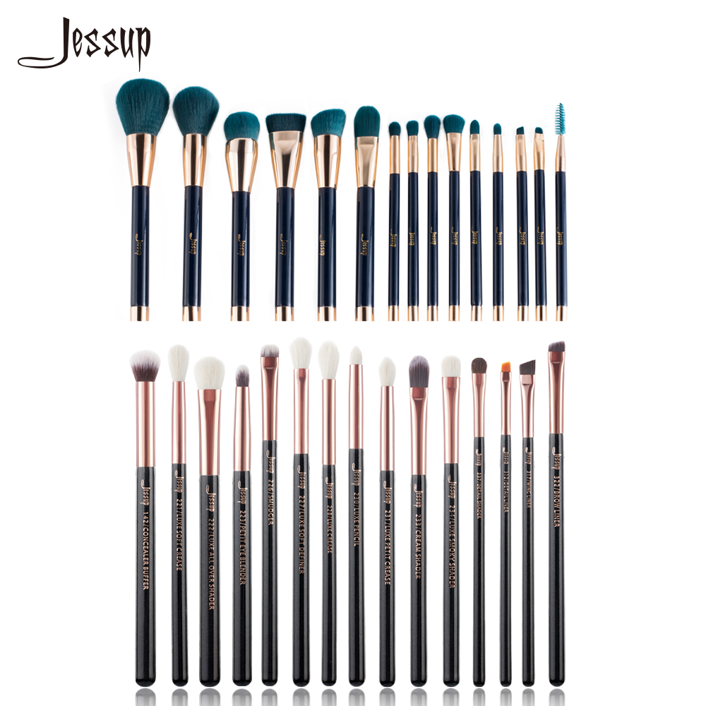 Jessup brushes Professional Makeup Brushes Set beauty Make up brush Powder Foundation Eyeshadow Eyeliner Lip Contour Concealer 2017 hot sale new arrive famous body tattoo artist brush no 10 make up contour foundation makeup brushes