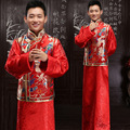 Traditional Red Chinese Gown  Dress Dragon Long Robe Grown Tang Suit Traditional Chinese Dress Men