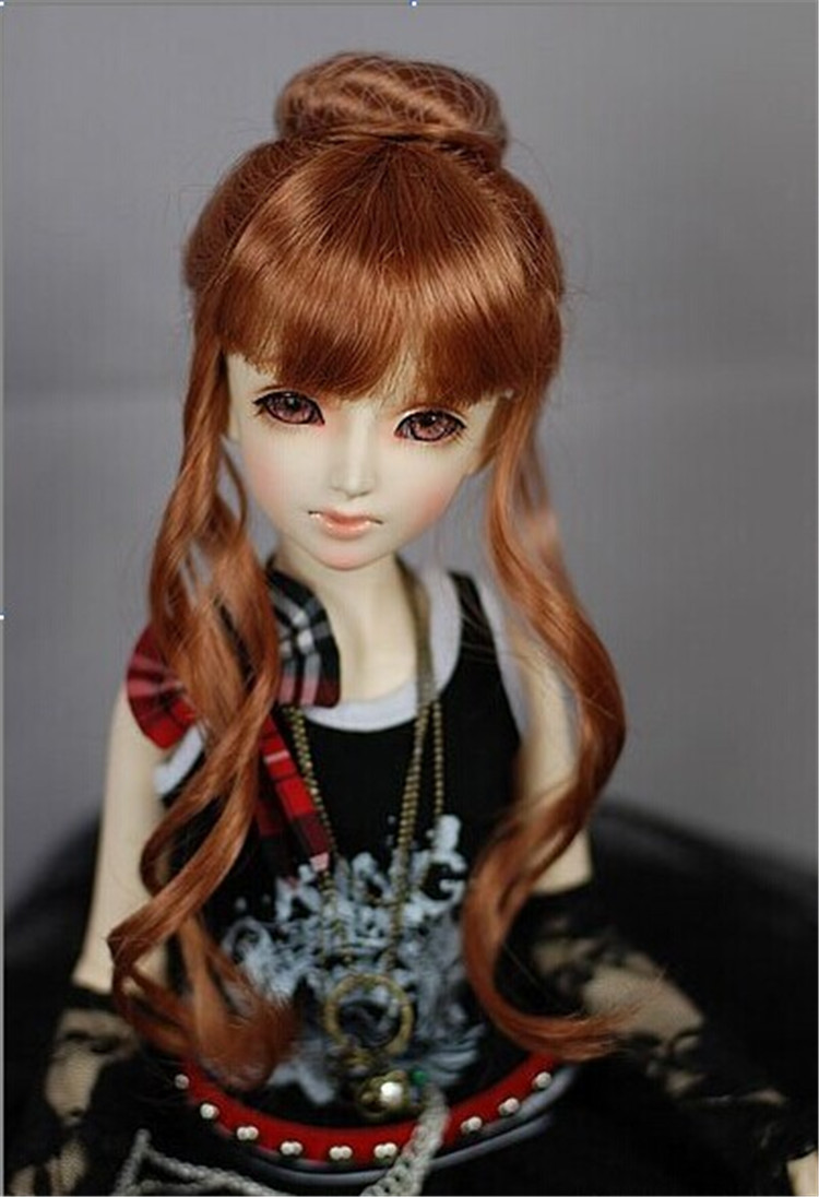 SD wig 1/3  Up do doll wigs  for BJD Dolls  8-9inch synthetic fiber toy hair ,Lati red doll accessories  Porcelain doll hair