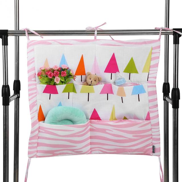 2018 Baby Bedding Set Accessories Waterproof Bedside Bed Organizer Baby Bed Hanging Bag Portable Storage Bags with 9 Pocket