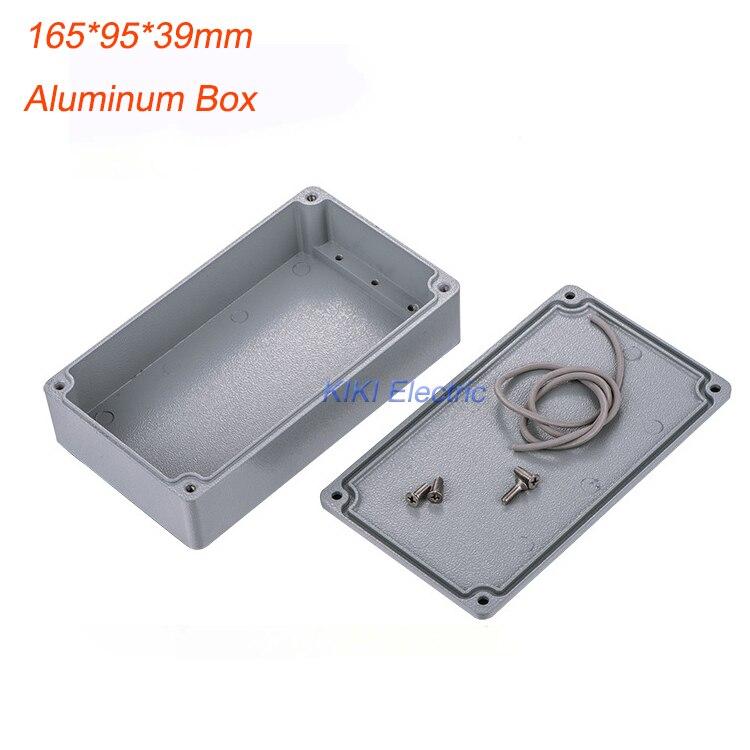 "New Small thickness Waterproof & Dustproof Case IP67 Aluminum Box / Junction Enclosure 165*95*39mm (6.50""x3.74""x1.54"") FA25-1"