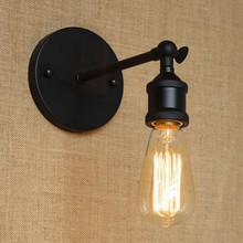 60w Black Vintage Wall Light In Class Retro Loft Industrial lamp Edison Wall Sconce Wandlamp Luz De Parede rh american country vintage wall lamp lights fixtures glass ball retro loft industrial wall sconces wandlamp arandela de parede