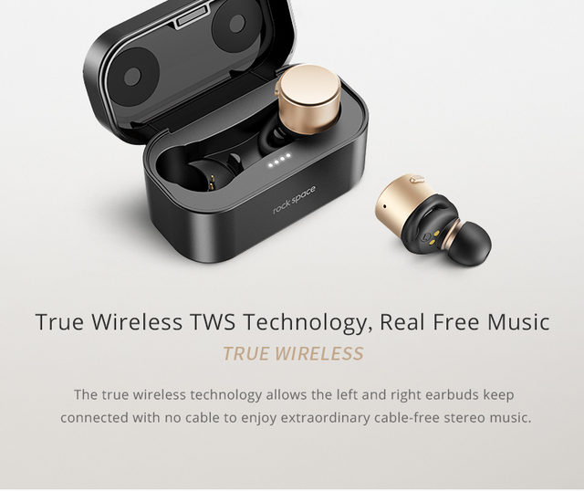 ROCKSPACE Newest EB10 Plus IPX4 TWS Bluetooth Earphones Hifi Stereo Sound Super Bass Earbuds With Mic For Phone Xiaomi Samsung