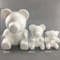 1PC 15cm/20cm/35cm Foam Rose Bear Mold DIY Artificial Rose Flower Bear Plastic Bear Roses Luck Dog Mold Model