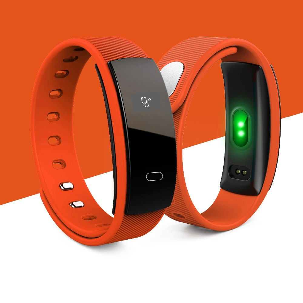 Hot QS80 Wristband SMS Call Vibration reminder Bluetooth Smart Band G SENSOR Heart rate Monitor Bracelet