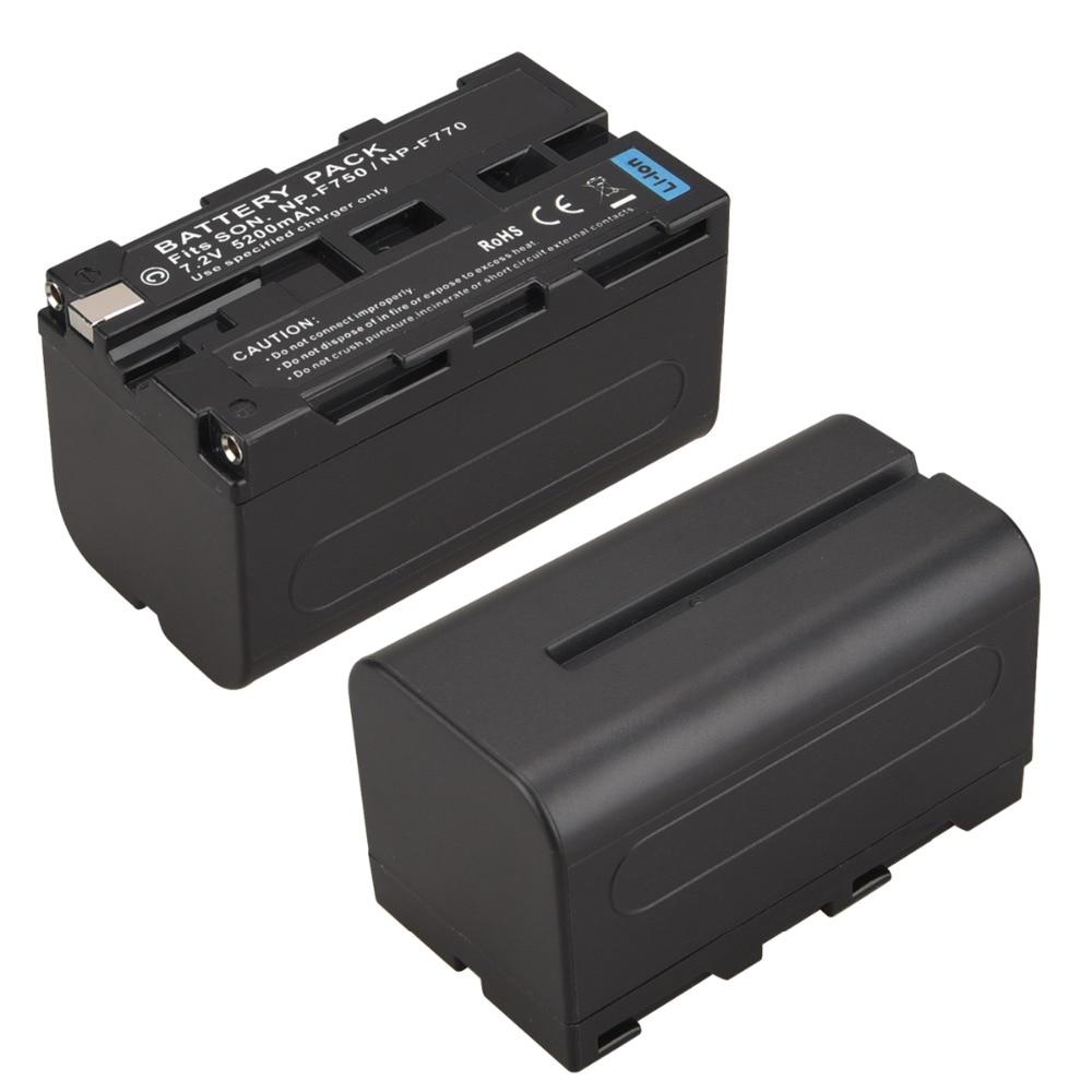 цена на 1Pcs 7.2V 5200mAh NP-F750 NP-F770 Digital Camera Battery for Sony NP-F750 NP-F770 Battery NP F750 NP F770 Batteria Bateria