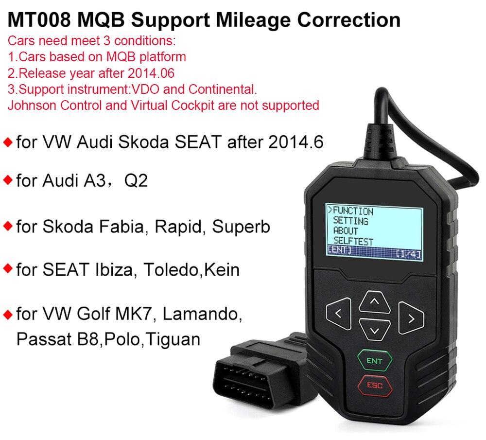 Obdprog Mt008 Obd2 Mileage Correction Tool For Vag Audi Skoda Seat