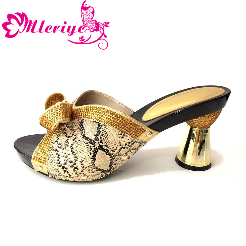 F Luxus Design Neues Party Nigerianischen Schuhe Mit 003 Strass Damen 2018 Italienische Verziert 5c34AqRjL