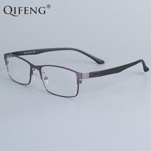QIFENG Spectacle Frame Eyeglasses Men  Computer Optical Prescription Eye Glasses For Male Transparent Clear Lens QF16013