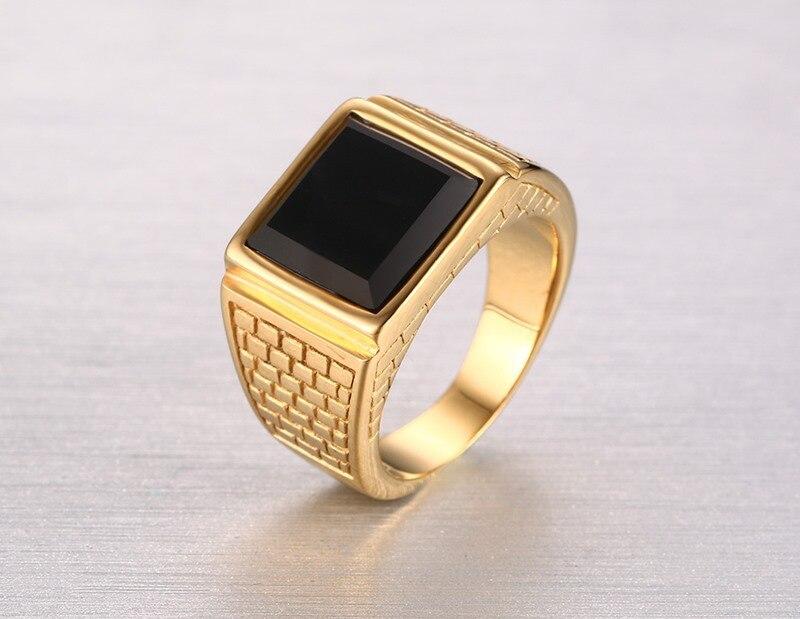Купить высокое качество мужское кольцо модные золотые кольца из нержавеющей