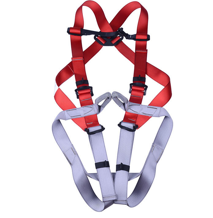 Safety Harness Climbing Equipment Safety Solid Belt Load Bearing 800KG For Adults EN361 Standard GM1416 new professional safety rock tree climbing rappelling harness seat sitting bust belt safety harness