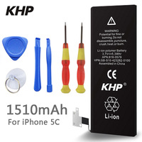 100 Original Brand KHP Phone Battery For Iphone 5C Real Capacity 1510mAh With Machine Tools Kit