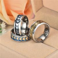 Fashion  Stainless Steel  Women Men Bohemian Vintage Butterfly Totem Rings  Jewelry Delicate 5