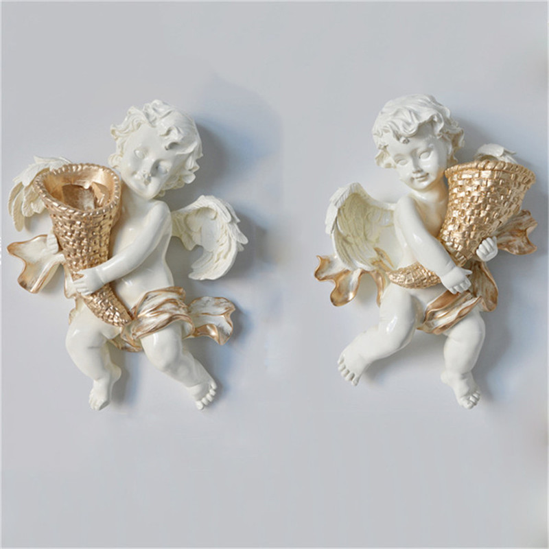 Creative home wall hanging angel statue decoration crafts living room wall decoration flower pot home decoration accessoriesCreative home wall hanging angel statue decoration crafts living room wall decoration flower pot home decoration accessories