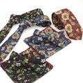 Men Cotton Flower Bowtie Neck Ties Handkerchief Pocket Square Wedding Party Set  BWTYF0031