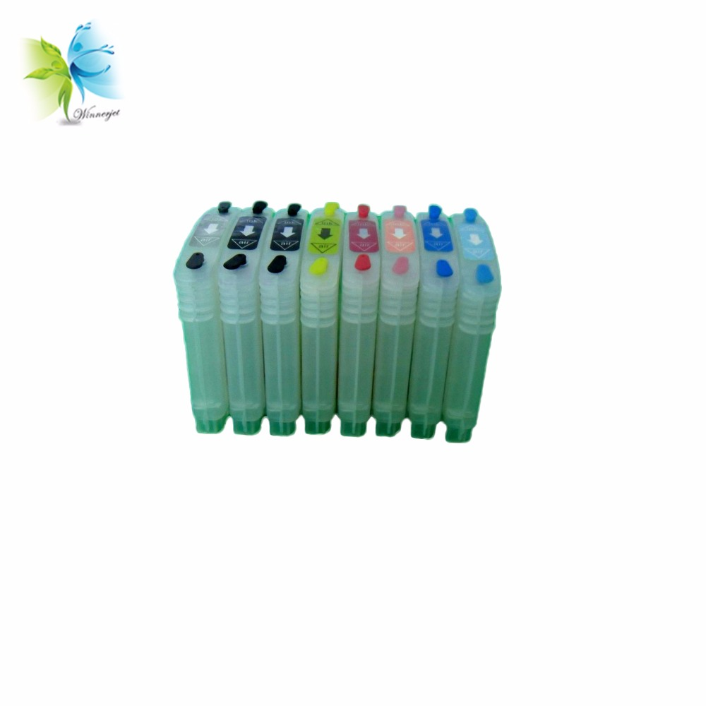 Winnerjet 5 Sets Empty Refill Ink Cartridge with Chip for Hp Replacement 38