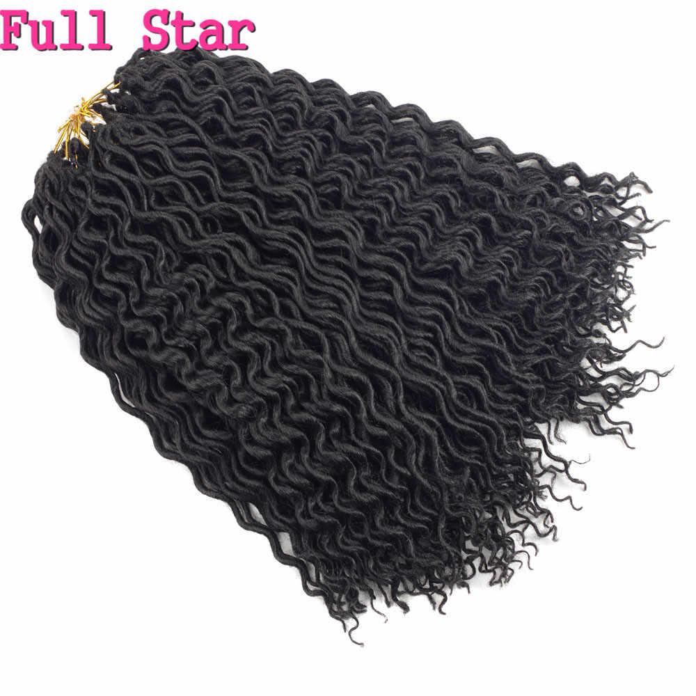 "18"" New Style Faux Locs Curly Hair 24 Roots Full Star Crochet Braids Locks  80g"