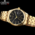 CHENXI Reloj de Oro Hombres Relojes de Primeras Marcas de Lujo Famoso Reloj Hombre Reloj de Oro de Cuarzo Reloj de Pulsera Calendario Relogio masculino