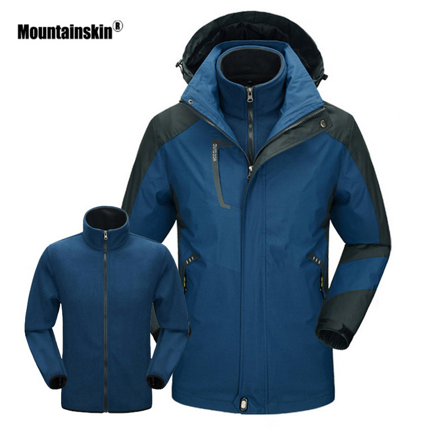Mountainskin Men s Women s Winter Outdoor Camping Hiking Fleece 2 Pieces Jacket Water Repellent Thermal