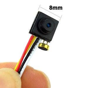 Image 2 - Audio 800TVL mini camera 8mm x 8mm small size analog video camera micro mini cvbs cctv camera FPV Camera for quadcopter
