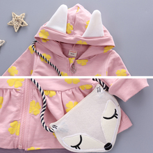Baby Girl Clothes Toddler Children's Sets 2017 Fashion Flower Print Cute Fox Bag Girls Clothing Girls Clothes Kids Sets