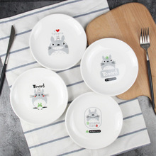 Dishes & Plates ceramic plate Cake fruit dish Cartoon children's tableware creative Cat dessert breakfast tray CJ16.16