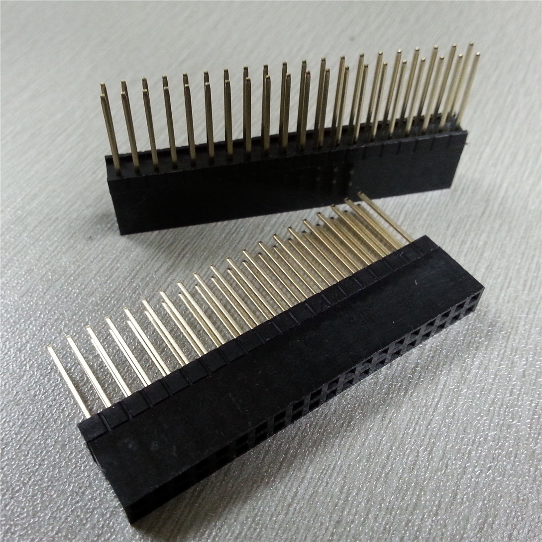 5PCS PC104 2x20 Double Row Straight Female Pin Header 2.54MM Pitch Long 12MM Strip