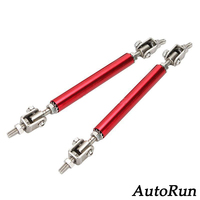 Adjustable Auto Coupe Splitter Rod 2 SR RD RED Front Rear Bumper Protector Pair