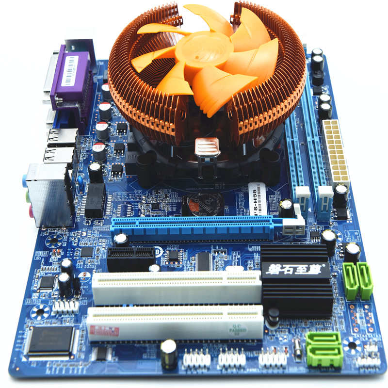 PANSHI H55L new motherboard suite I5 650 performance more than quad-core motherboard suite
