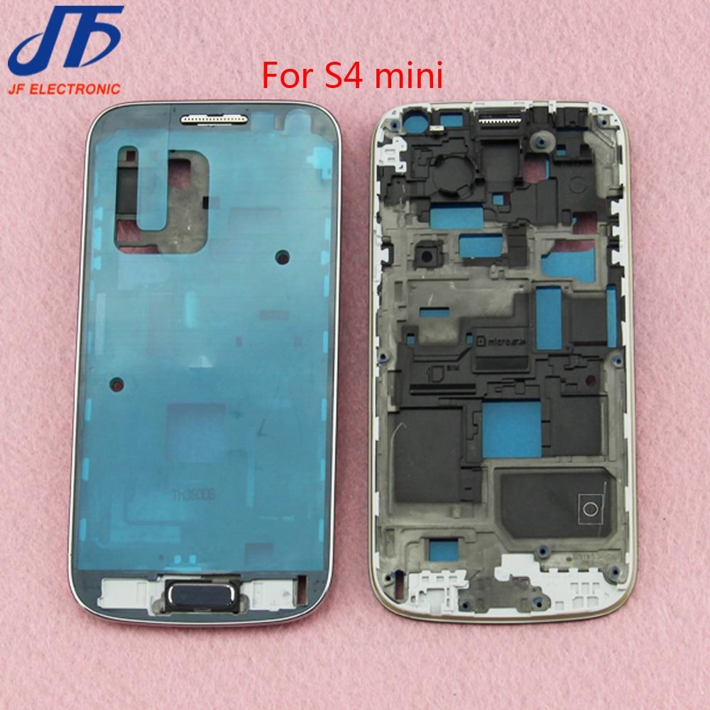 10 шт./лот спереди Корпус Средний Рамки рамка плиты из натуральной ЖК-дисплей Рамки для Samsung Galaxy S4 Mini i9190 i9192 i9195 + главная Кнопка