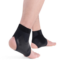 Kuangmi 2 pcs Heel Opening Ankle Brace Flimsy Ankle Guard Support Gym Running Basketball Sport Fitness Elastic Foot Protective