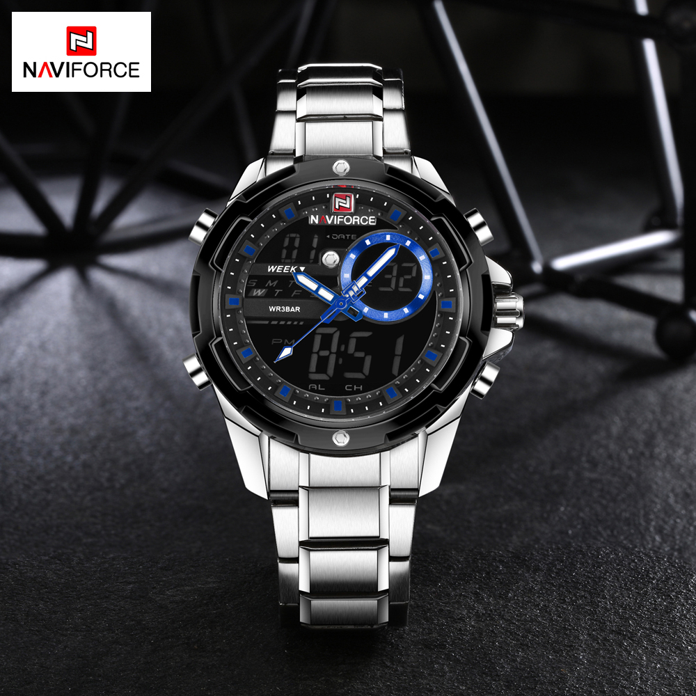 Fashion Men Watches Luxury Brand NAVIFORCE Men's Quartz Analog LED Sports Watch Men Army Military Wrist Watch Relogio Masculino стоимость