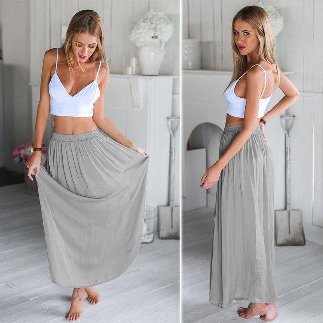 Vest top style maxi dress
