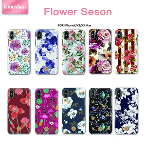 Image 2 - Original Kingxbar Crystals Rhinestone Flower Case For Apple iPhone XS XS MAX X Fashion Built in Metal Plate Hard Back Cover Case