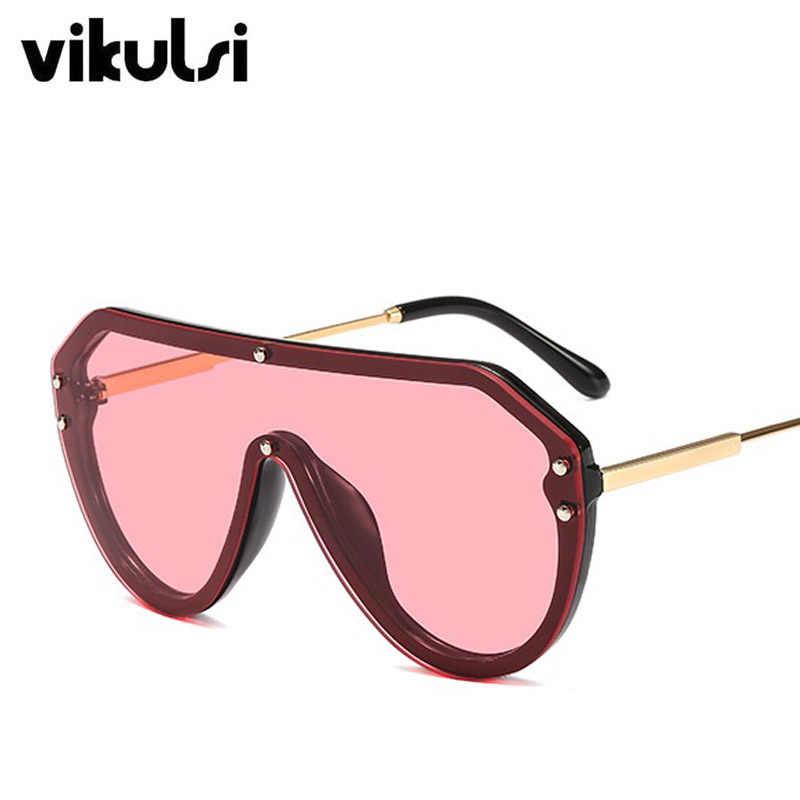 1075da0fdb73 Rivet Fashion Pilot Sunglasses Women 2019 New Famous Brand Luxury Designer  Mirrored Sun Glasses Men Metal