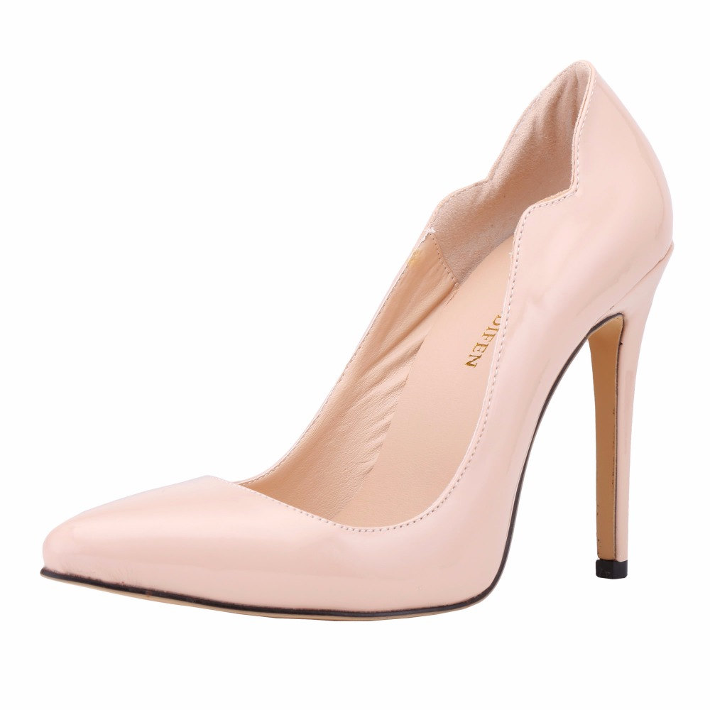 New Loslandifen fashion pointed toe high heels shoes woman wedding party shoes solid women's pumps leather Heel height 11cm new spring summer women pumps fashion pointed toe high heels shoes woman party wedding ladies shoes leopard pu leather