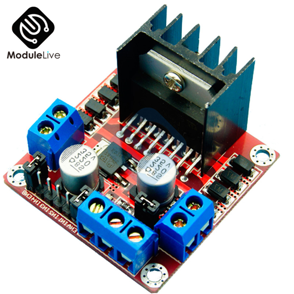 Dual H Bridge DC Stepper Motor Drive Controller Board Module L298N for  Arduino Smart Car Robot ~ Top