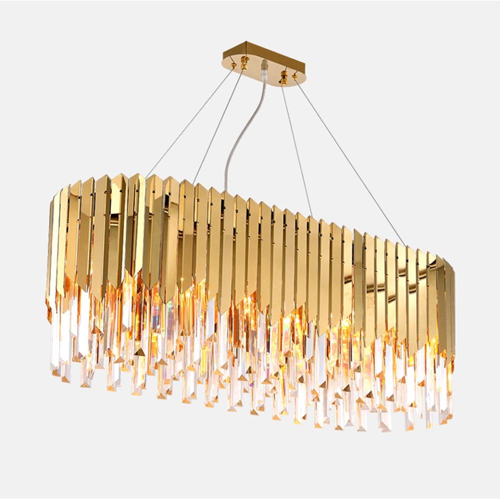 Conception de luxe moderne lustre en cristal LED lampe AC110v 220 v lustre cristal foyer lustre éclairage